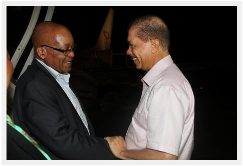 President Zuma in Seychelles for Madagascar meeting