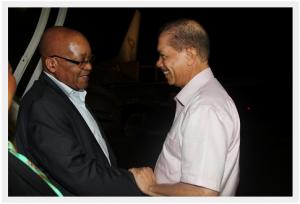 President Zuma in Seychelles for Madagascar meeting