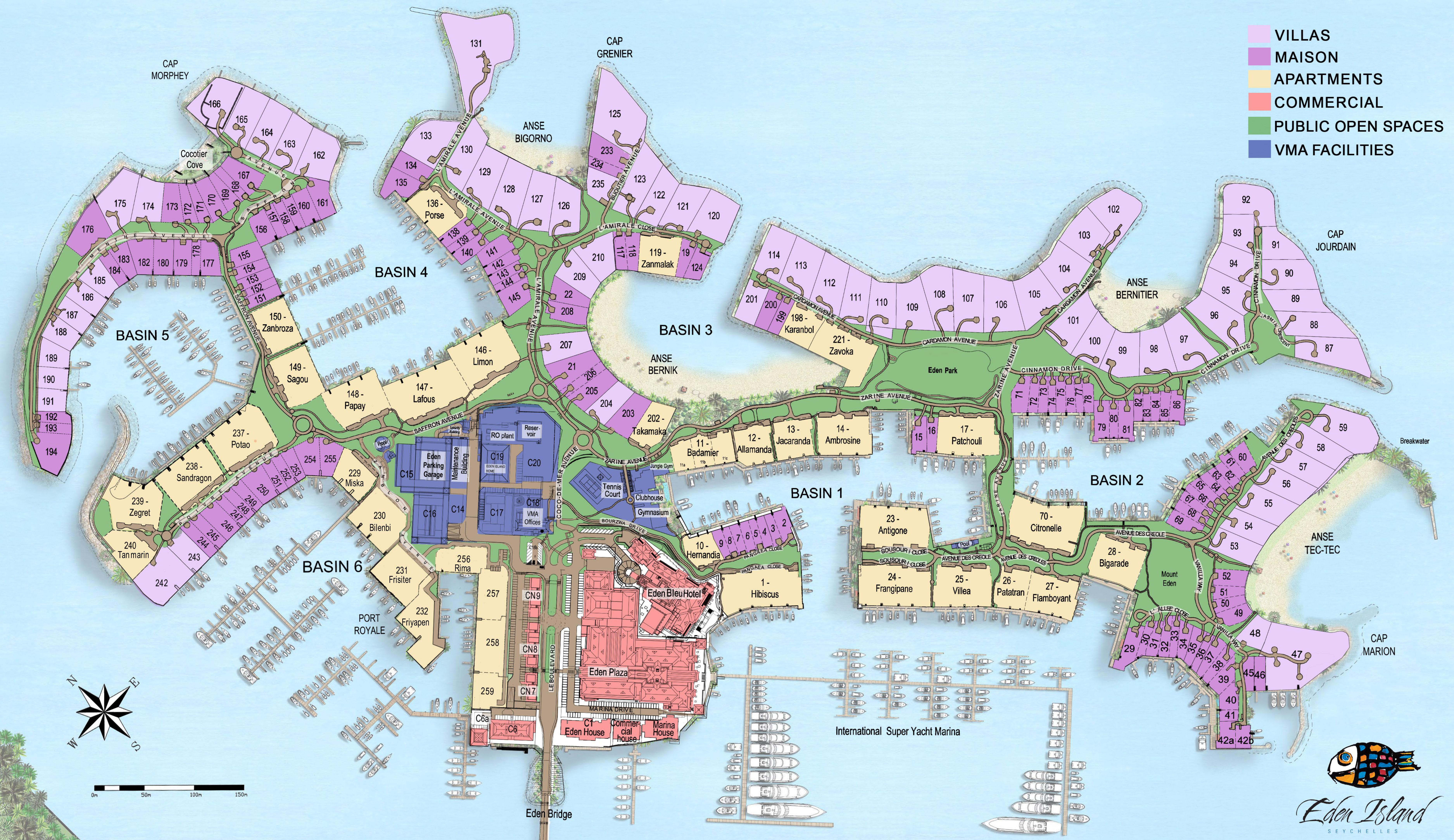 Seychelles Eden Island Map