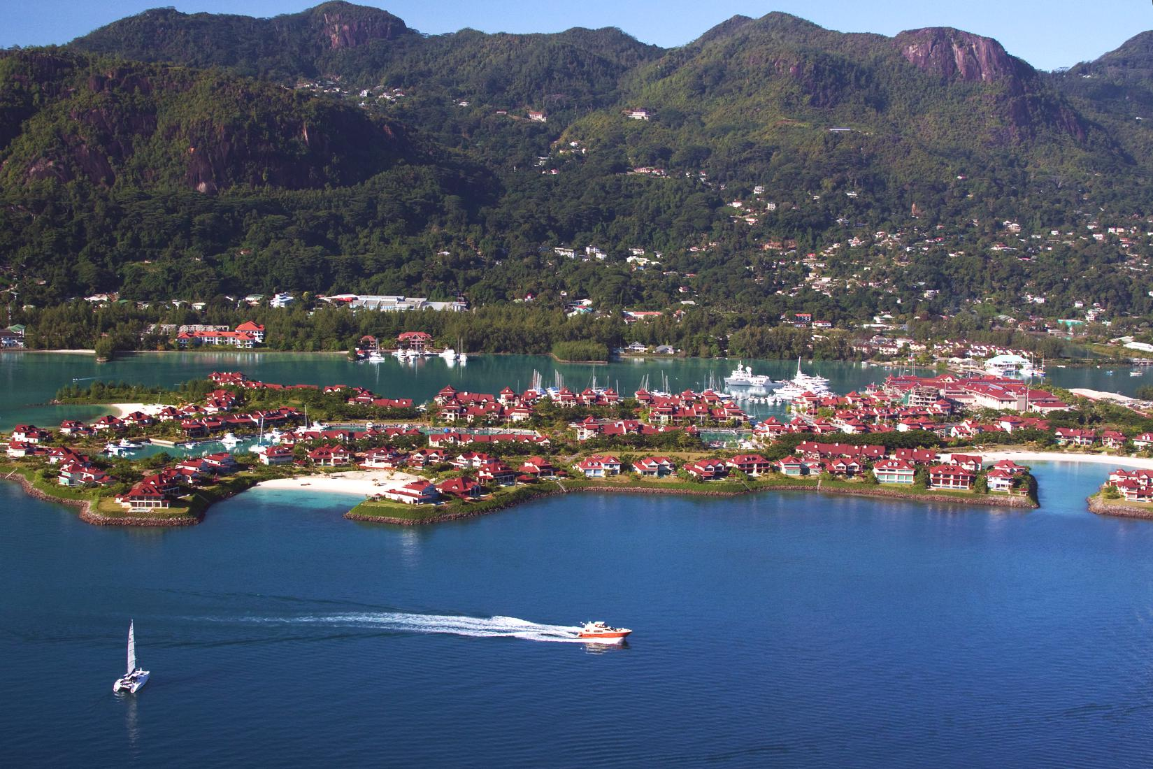Aerial view of Eden Island with Mahe in the background IMG 1300