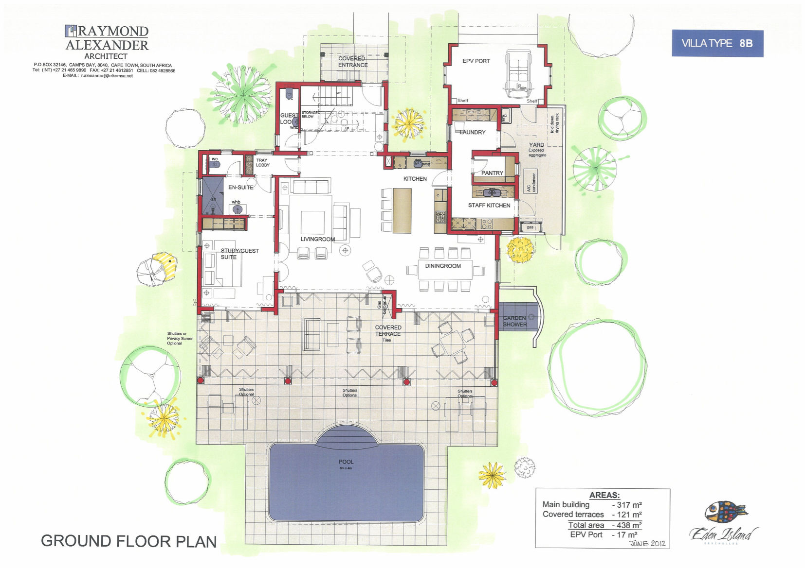 Purchase luxurious villas in the seychelles eden island Ground floor house plan